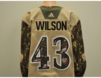 best website 2d330 b7294 Tom Wilson Signed Camouflage Caps Jersey - 2019 Capitals ...